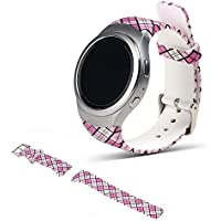 For Samsung Gear S2 SM-R720/R730 Replacement Watch Band - iFeeker Accessory Soft Silicone Colourful Sport Wristband Strap Band Bracelet Common Design for Samsung Galaxy Gear S2 SM-720/SM-730 Smart Watch