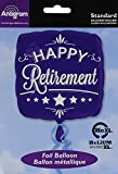 Anagram Folienballon 2873801Happy Retirement, quadratisch, 45,7cm blau
