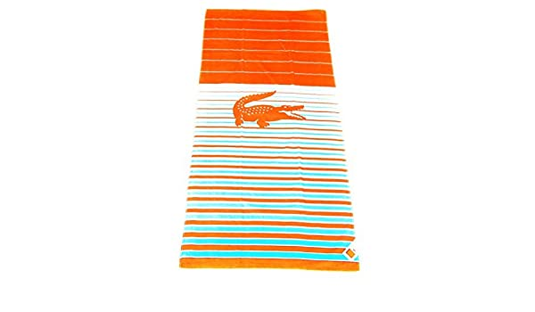 """LACOSTE BEACH TOWEL 36/"""" x 72/"""" BRAND NEW WITH TAGS CROC 100/% AUTHENTIC"""