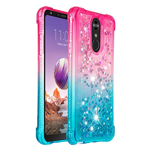 Hirkase Silikon Handy Hülle Kompatibel für LG Stylo 4 / Q stylus Hülle Crystal Clear Ultra Dünn Flexibel Silikon TPU Weiche Schutzhülle Slimcase Tasch für LG Stylo 4 / Q stylus(Blau) Motorola Q Smartphone