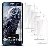 5x Samsung Galaxy S6 Edge | Schutzfolie Klar Display Schutz [Crystal-Clear] Screen protector Bildschirm Handy-Folie Dünn Displayschutz-Folie für Samsung Galaxy S6 Edge Displayfolie - Bildschirm gewölbt, Folie bewusst kleiner