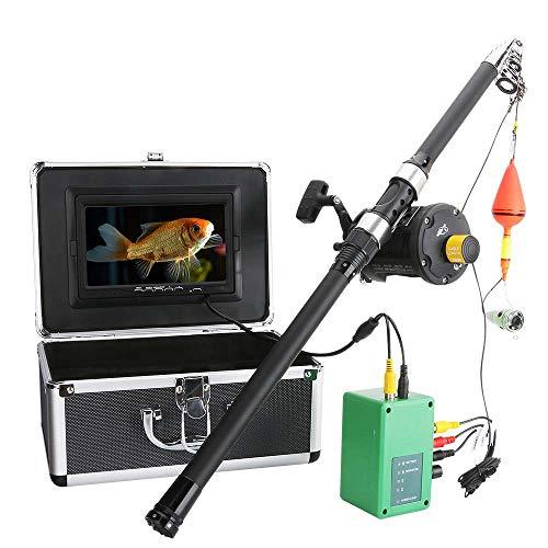 STHfficial Tragbare Unterwasserfisch-Sucher 6W IR LED Der Aluminiumlegierung Beleuchtet Mit 7 Zoll HD Farbmonitor 15m Kabel