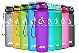 Grsta Sport Trinkflasche 32oz-1000ml - Wasserflasche Auslaufsicher, Eco Friendly BPA Frei Tritan Kunststoff Flaschen mit Frucht Filter, Sporttrinkflasche für Kinder, Gym, Yoga, Laufen, Camping, Büro (Lila)