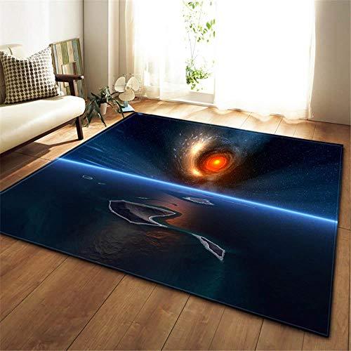 ASDLJLAJD Teppich 3D Cosmic Planet Carpet Wohnzimmer Carpet Junge Raumdekor Pad Baby Krabbelfläche Carpet rutschfeste Weiche Schlafzimmer Carpet