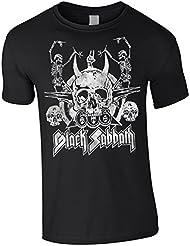 T-SHIRT TEE MAN KIND BLACK SABBATH HEAVY METAL MUSIC 666 SKULL DESIGN FARBE BLACK SIZE M