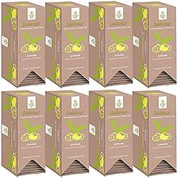 Dallmayr Aromatisierter Grüner Tee mit Zitrone 8 x 25 x 1,75g