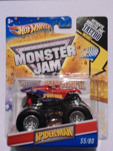Hot Wheels Spiderman Monster Jam Truck Tattoo Series 1:64 Scale #55/80 by Hot Wheels (Hot Wheels Tattoos)