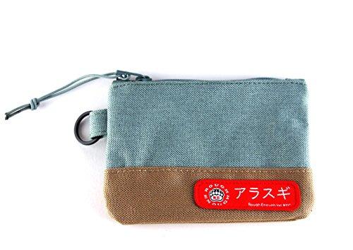 Rough Enough Vintage Casual Coin Pouch Credit Card Holder Case Bag (Khaki Green) by ROUGH ENOUGH
