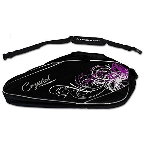 TECNOPRO Te-Tasche Crystal Single Racketbag Schwarz / Weiß / Violet