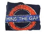 Distressed Mind The Gap Roundel Printed Hooded Sweatshirt, Navy - Transport for London Souvenir Hoodie (Large)
