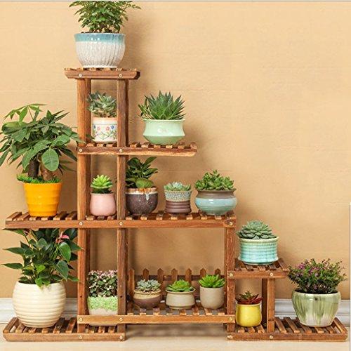 5 Tier-ecke Bücherregal (Massivholz Blumen Rack Antiseptic Holz Balkon 5 Tier Blumentopf Rack Indoor Wohnzimmer Mehrzweck Lagerung Rack)