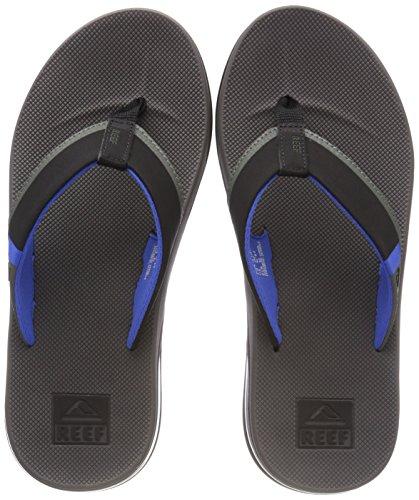 Reef Herren Fanning Low Zehentrenner, Mehrfarbig (Grey/Blue Gbl), 39 EU