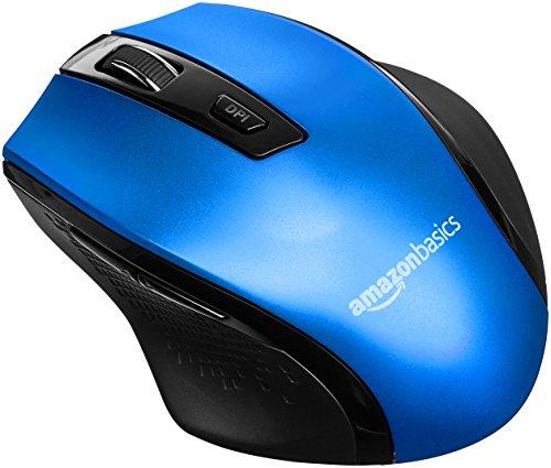 AmazonBasics - Ergonomische kabellose Maus - DPI einstellbar - Blau