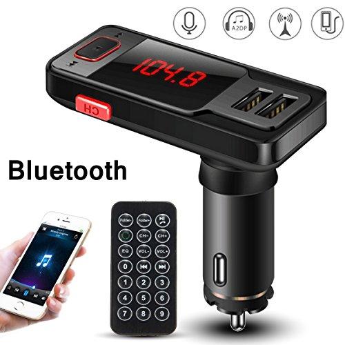 M.Way Kit de Voiture Transmetteur FM sans fil Bluetooth Lecteur pour iPhone 6/5 iPod iPad Galaxy S6 MP3 MP4