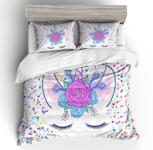 Conjunto ropa cama Unicornio Dibujos Animados Impresos