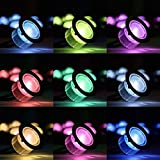 Bright Lightz® RGB Colour Changing LED Deck Lighting Set, Complete Kit with Wireless Controller & Power Adapter, Ideal For Decking Lighting, Kitchen Plinths, Bathroom Lights, Saunas, Etc (5 Lights)
