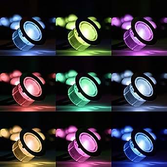 farbver ndernde led sockelbeleuchtung inkl kabelloser kontrollsteuerung rgb leuchten aus. Black Bedroom Furniture Sets. Home Design Ideas