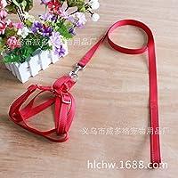 ZPP-Reflective petto e schiena insiemi di alta qualità prodotti in pet nylon guinzaglio cani cavi toracica,rosso,S