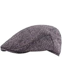 Gysad Sombrero Hombre Cálido y Confortable Boinas de Hombre Invierno Diseño  Retro Boina de Hombre Algodón 0d575c027d6
