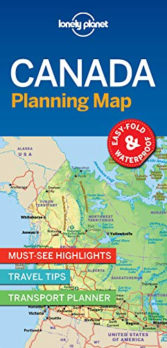 Lonely Planet Canada Planning Map por Lonely Planet
