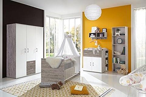 Babyzimmer, Kinderzimmer, Babymöbel, Komplett-Set, Babyausstattung, Babybett, Wickelkommode, Schrank, Mädchen, Junge,