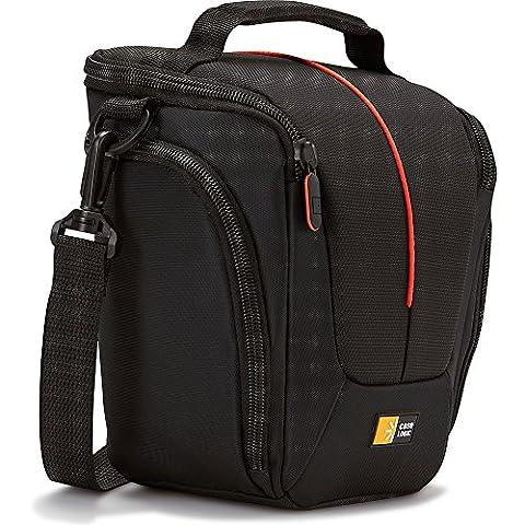Nylon SLR holster Compact black/red