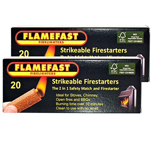 2-x-packs-of-20-flamefast-strikeable-firelighters-easy-to-use-2in1-safety-match-and-firestarter-burn