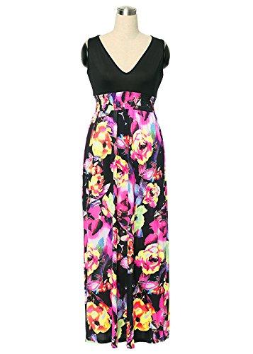 Ruiyige Damen Kleid Blumen-Rosy