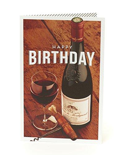 Vino-Biglietto di auguri di buon compleanno
