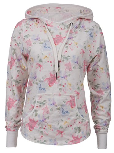 New View - Sweat-shirt - Femme * One Size Weiß-Bunt