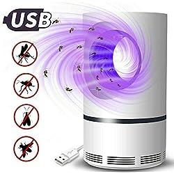 Lámpara eléctrica para Matar Mosquitos sin químicos, con USB, para fotografía, Mosquitos y atrapa Moscas, luz UV LED, lámpara de Trampa con Ventilador de succión para el hogar y el Interior