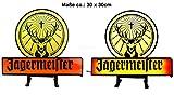 Jägermeister Leuchtschild Werbeschild Werbetafel Leuchtreklame LED Beleuchtet mit Netzteil - ca. 30 x 30cm