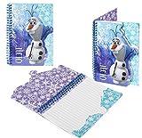 Kids Official Disney Frozen Notebook Elsa Anna Olaf A5 Spiral Notepad Brand New