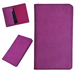 DCR Pu Leather case cover for Micromax Bolt A47 (pink)