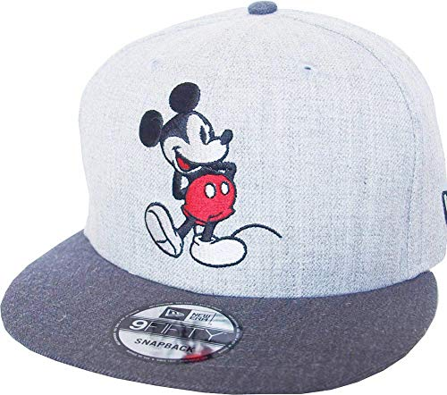 New Era Mickey Mouse 9fifty Snapback Cap Comic Graphite Heather Graphite - One-Size