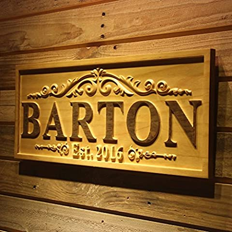 wpa0333 Personalized Wedding Gift Last Name Established Sign Family Name Signs Custom Wood Sign Carved Wooden Sign 3D 5 Year Anniversary Gift Couple Last Name Sign