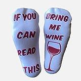 Lusso pettinato calze di cotone'Bring me Wine–regalo ideale, divertimento di Natale o regalo di compleanno per donne, o divertente GAG novità per gli amanti di vino
