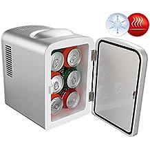 Rosenstein & Söhne Dosenkühlschrank: Mobiler Mini-Kühlschrank mit Wärmefunktion, 4 Liter, 12 & 230 V (Dosen Kühler)