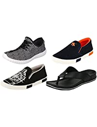 Maddy Perfect Combo Of Sport Shoes, Sneaker & Sandal For Men Pack Of 4 In Various Sizes