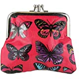 Miss Lulu Ladies Girls Butterfly Print Purse Wallet Satchel Messenger Crossbody Shoulder Handbag