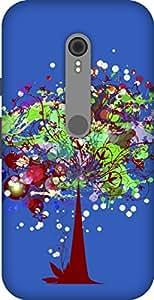 The Racoon Lean printed designer hard back mobile phone case cover for Motorola Moto G Turbo. (Dark Magic)