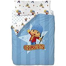 Zinkia Pocoyo Circus - Funda nordica 3 piezas para cama de 90 cm