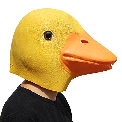 PartyCostume Deluxe Neuheit-Halloween-Kostüm-Party-Latex-Tierkopf-Schablone Masken Die Ente (Ostern-kostüm Für Erwachsene)