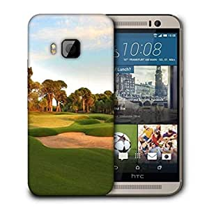 Snoogg Clean Golf Court Printed Protective Phone Back Case Cover For HTC One M9