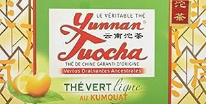 Yunnan Tuocha Thé Vert Kumquat 20 infusettes - Lot de 6