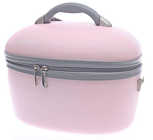 Unbekannt Kosmetikkoffer Beauty Case Schminkkoffer Friseurkoffer Schmuckkoffer Kunststoff Hartschale Beautycase (rosa)