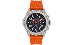 Gigandet Aquazone Men's Quartz Watch Chronograph Diver's Wristwatch Analogue Date Orange Black G23-005