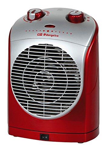 Orbegozo FH 5025 - Calefactor eléctrico compacto con movimiento oscilante, 2200 W de potencia, 2 niveles de funcionamiento y modo ventilador
