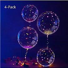 04fb4f40dc63a IvyLife Globo LED Transparente con Luces Globos de Látex 18 Pulgadas con LED  Muticolores