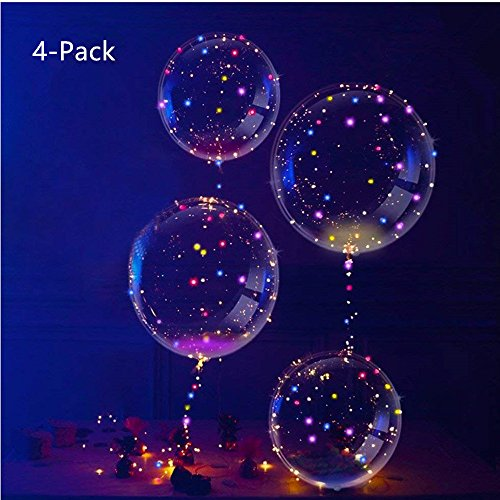 IvyLife Globo LED Transparente Luces Globos Látex